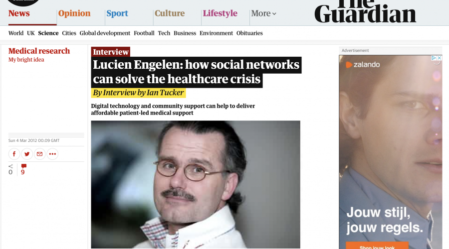 THE GUARDIAN: Lucien Engelen: how social networks can solve the healthcare crisis | Technology | The Observer