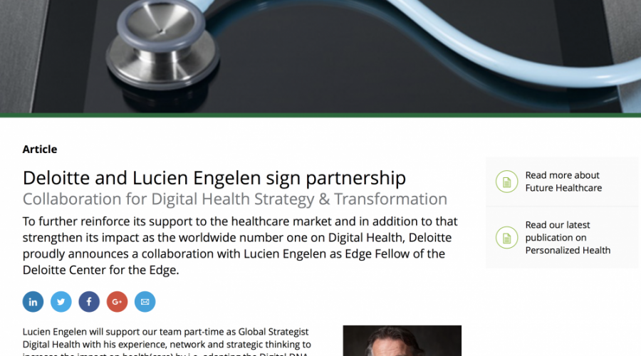 Deloitte and Lucien Engelen sign partnership Collaboration.